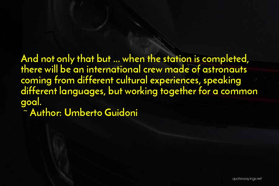 Speaking Other Languages Quotes By Umberto Guidoni