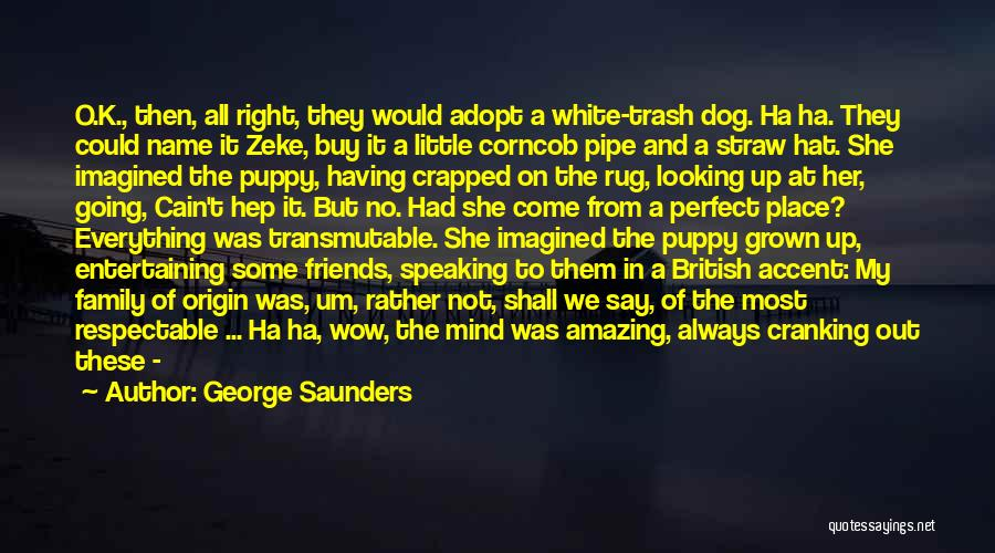 Speaking Up Your Mind Quotes By George Saunders