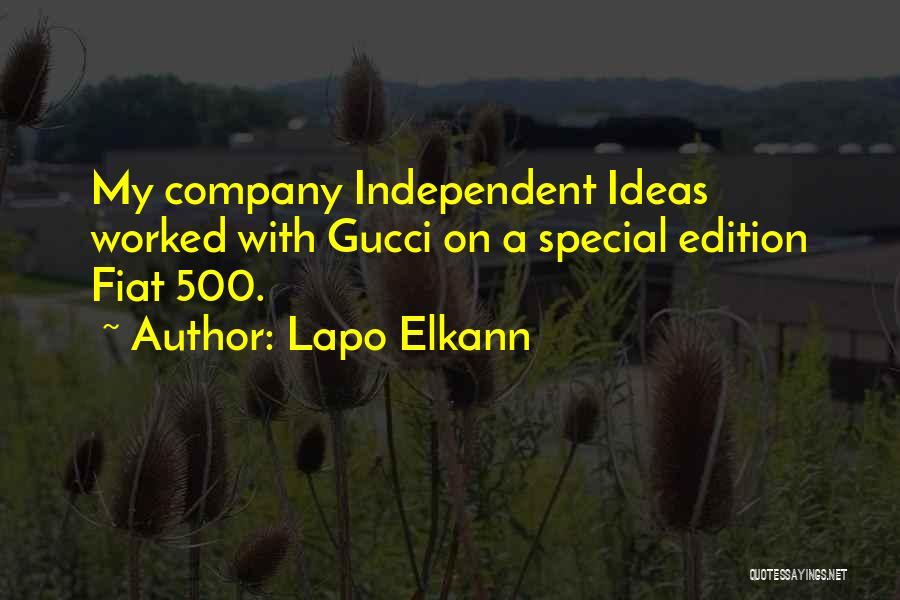 Special Edition Quotes By Lapo Elkann