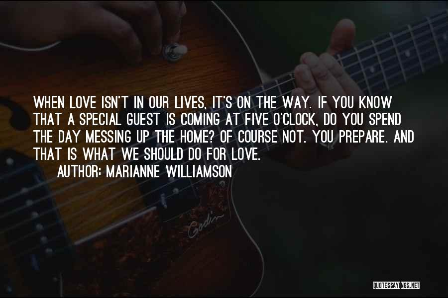Special Guest Quotes By Marianne Williamson