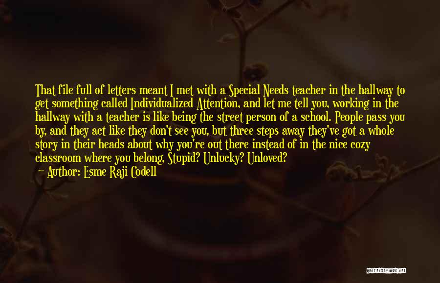 Special Needs Quotes By Esme Raji Codell