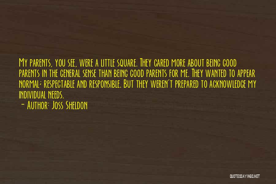 Special Needs Quotes By Joss Sheldon