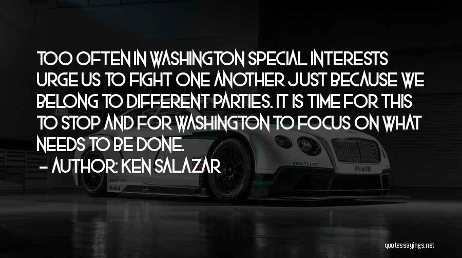 Special Needs Quotes By Ken Salazar