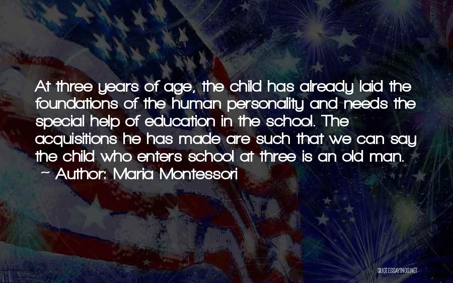Special Needs Quotes By Maria Montessori
