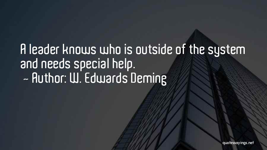 Special Needs Quotes By W. Edwards Deming