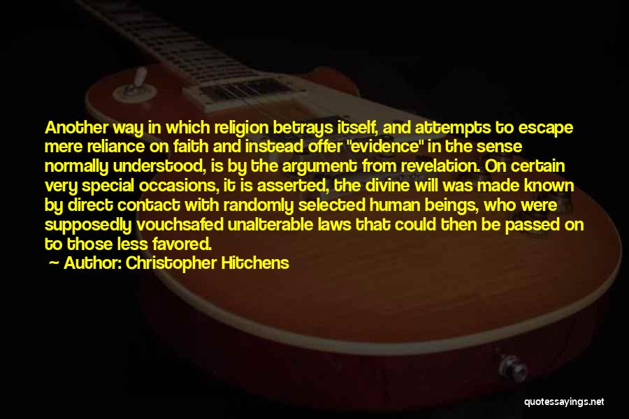 Special Offer Quotes By Christopher Hitchens