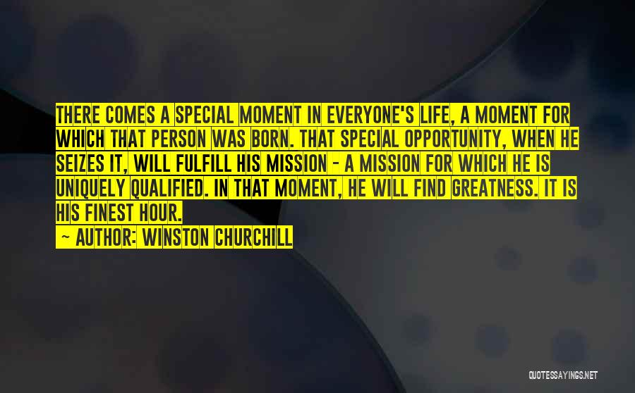Special Person In Our Life Quotes By Winston Churchill