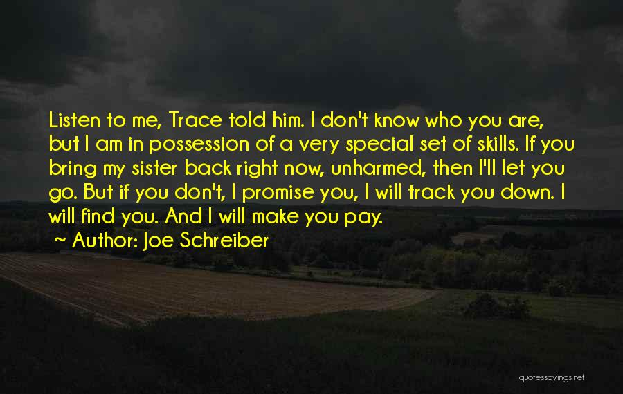 Special To Him Quotes By Joe Schreiber