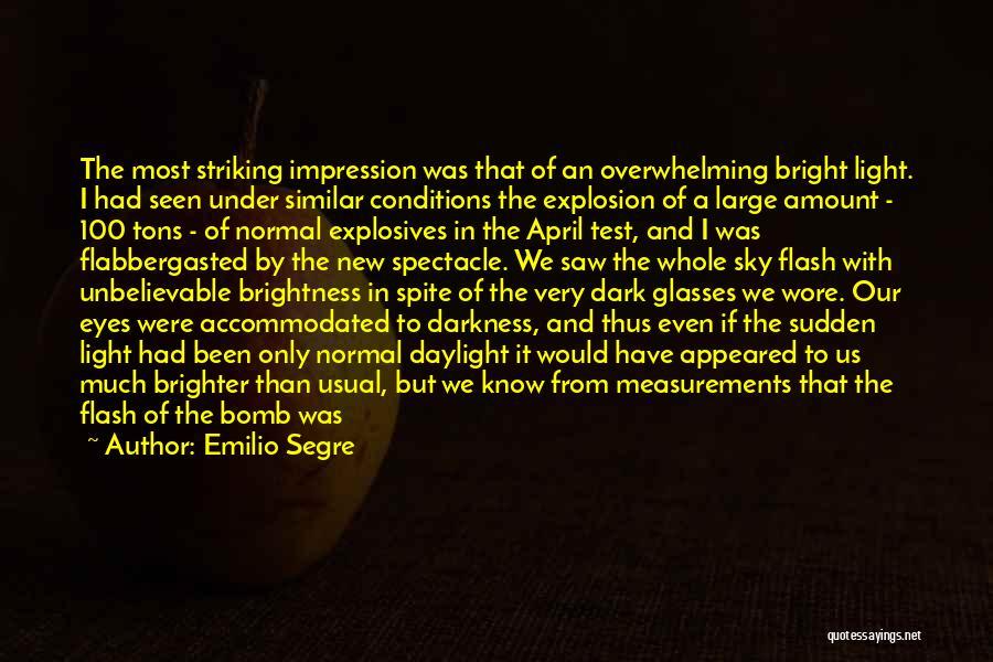Spectacle Quotes By Emilio Segre