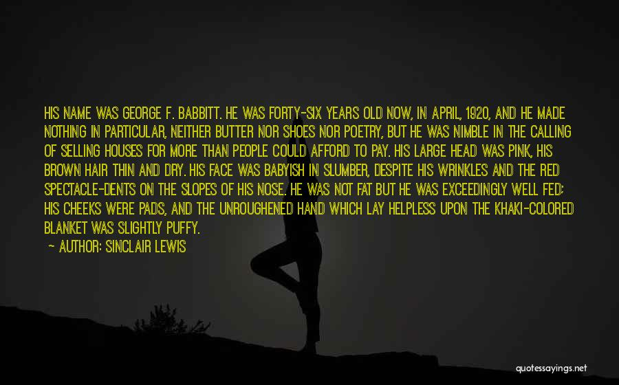 Spectacle Quotes By Sinclair Lewis