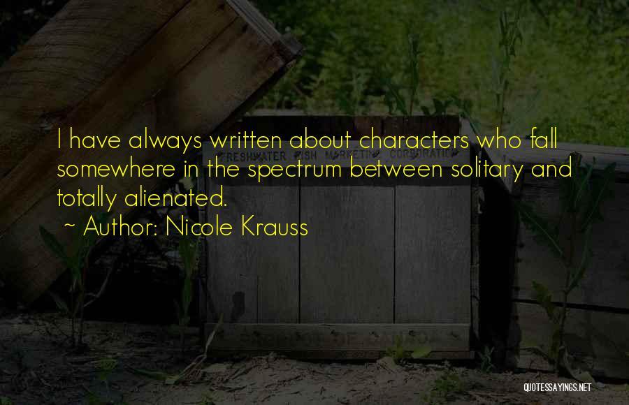 Spectrum Quotes By Nicole Krauss