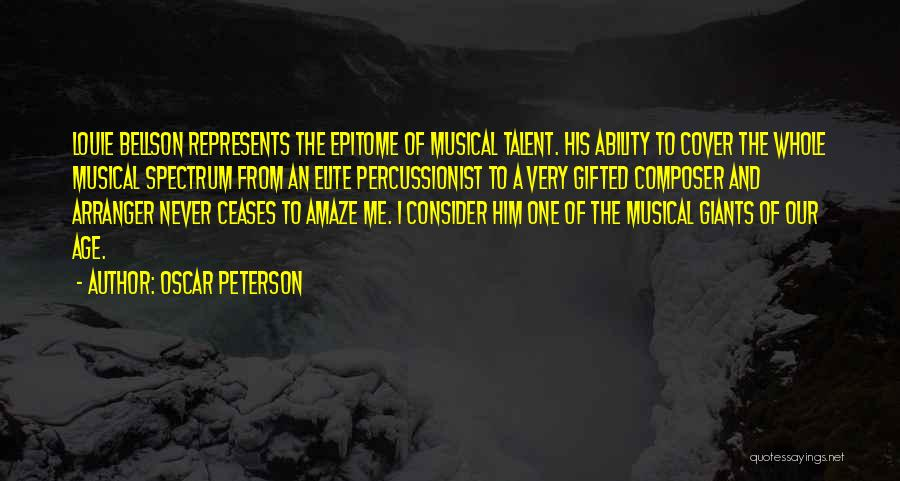 Spectrum Quotes By Oscar Peterson