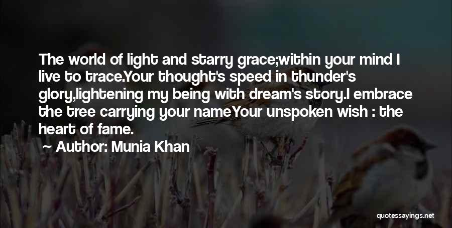 Speed Of Thought Quotes By Munia Khan