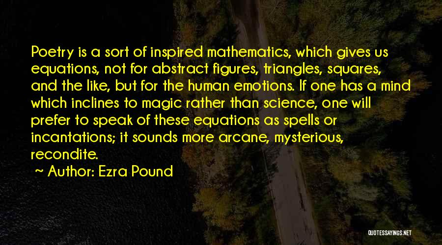 Spells And Magic Quotes By Ezra Pound