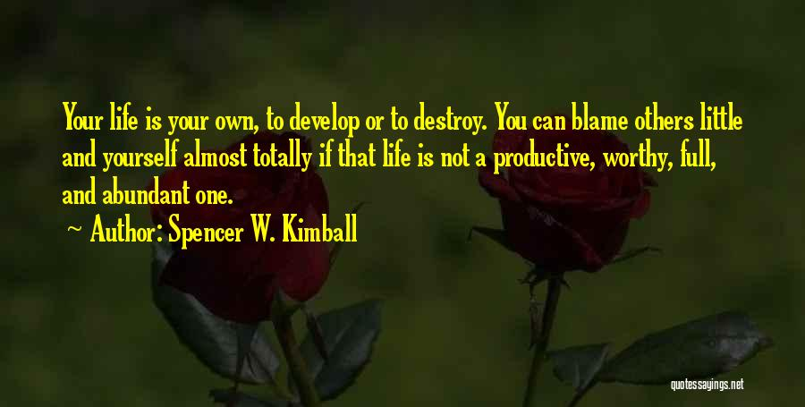 Spencer W. Kimball Quotes 708707