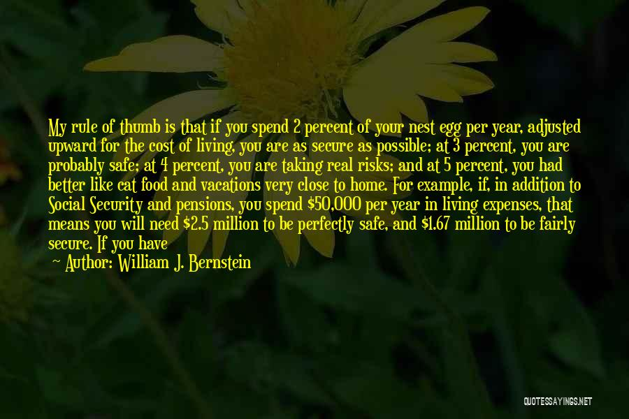 Spend The Money Quotes By William J. Bernstein