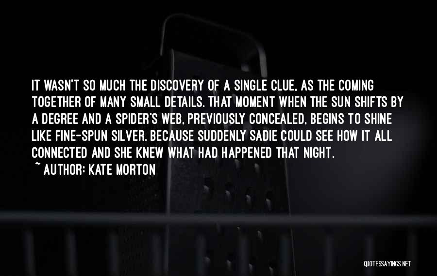 Spider's Web Quotes By Kate Morton