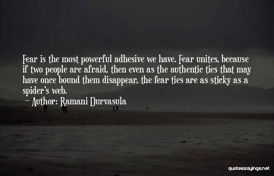Spider's Web Quotes By Ramani Durvasula