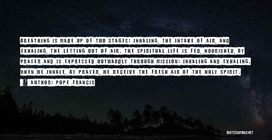 Spirit Life Quotes By Pope Francis