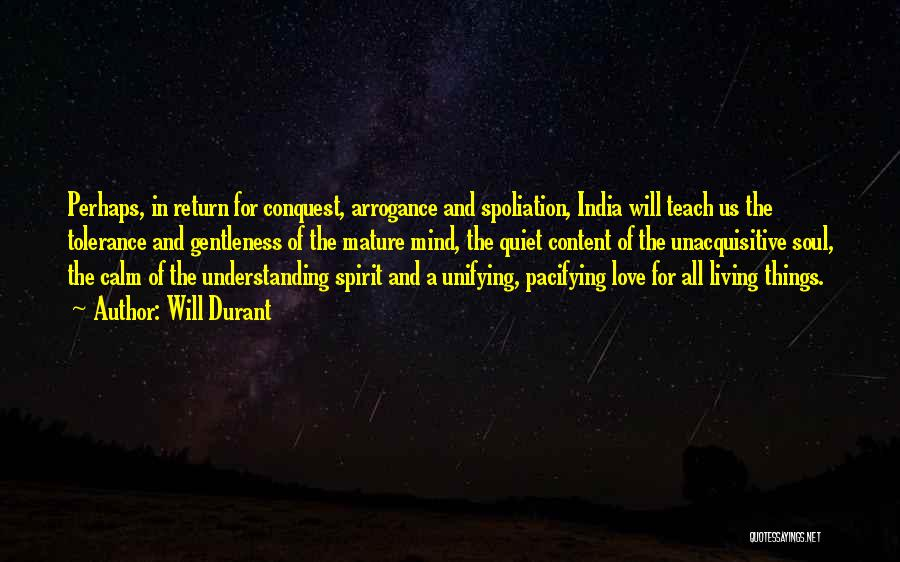 Spirit Love Quotes By Will Durant