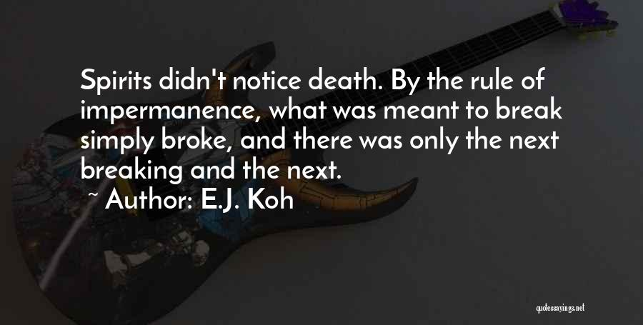 Spirit Science Love Quotes By E.J. Koh