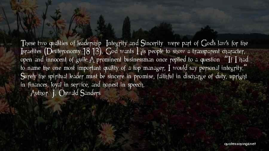 Spiritual Leadership Oswald Sanders Quotes By J. Oswald Sanders