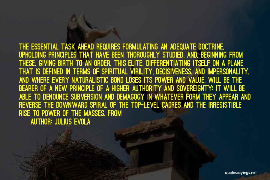 Spiritual Principles Quotes By Julius Evola
