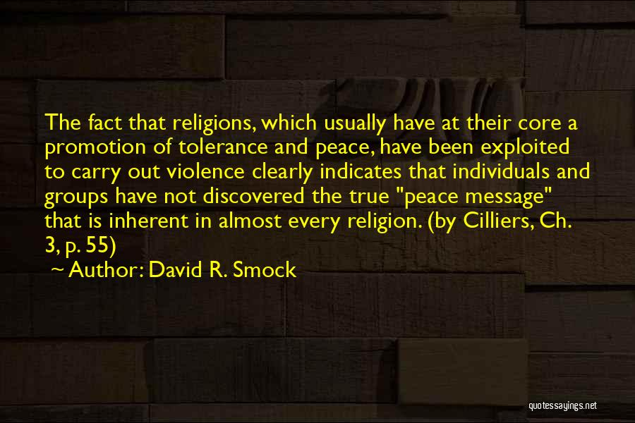 Spirituality And Religion Quotes By David R. Smock