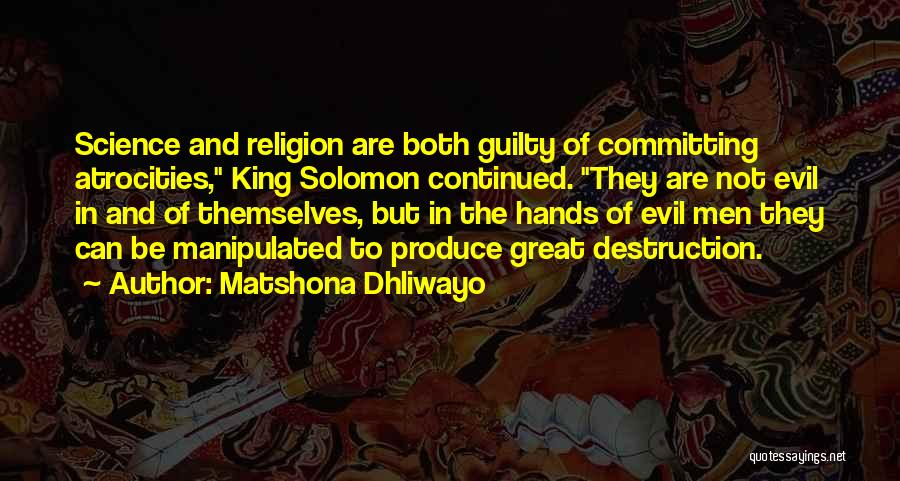Spirituality And Religion Quotes By Matshona Dhliwayo