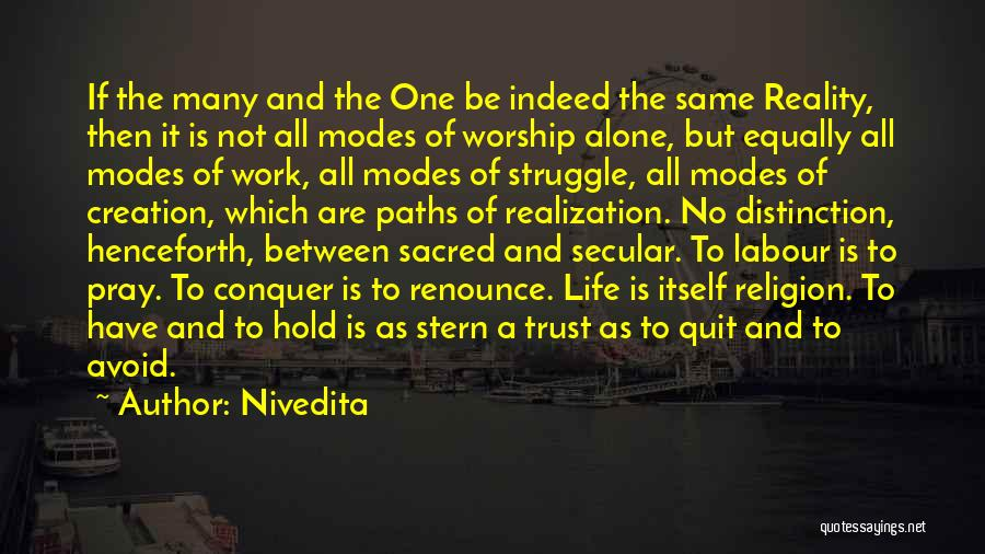 Spirituality And Religion Quotes By Nivedita