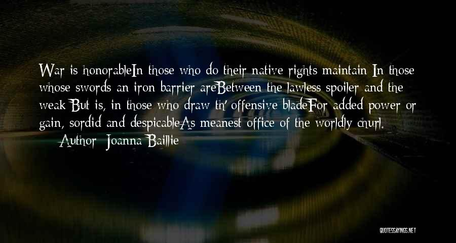 Spoiler Quotes By Joanna Baillie