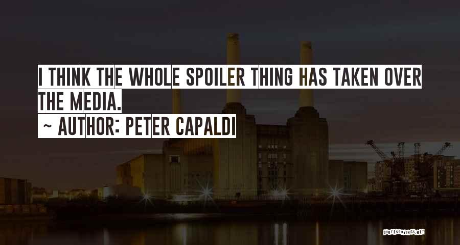 Spoiler Quotes By Peter Capaldi