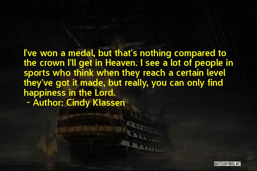 Sports Medal Quotes By Cindy Klassen