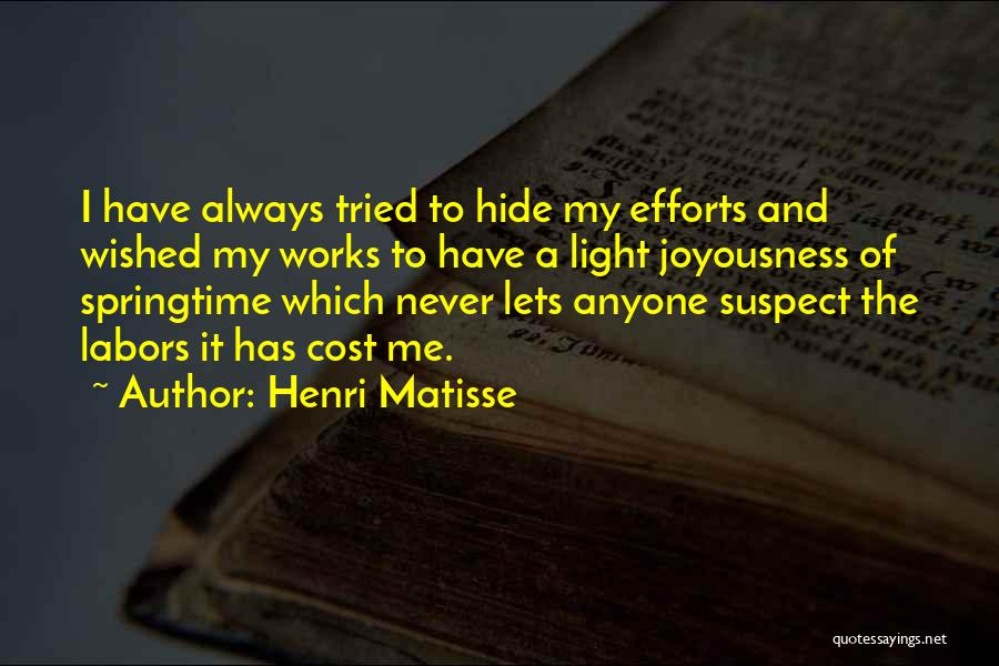Springtime Quotes By Henri Matisse