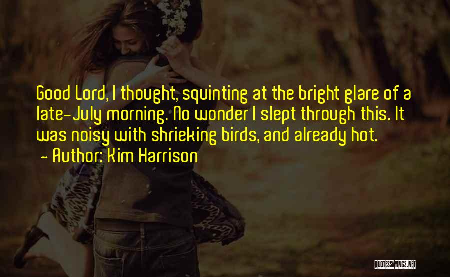 Squinting Quotes By Kim Harrison