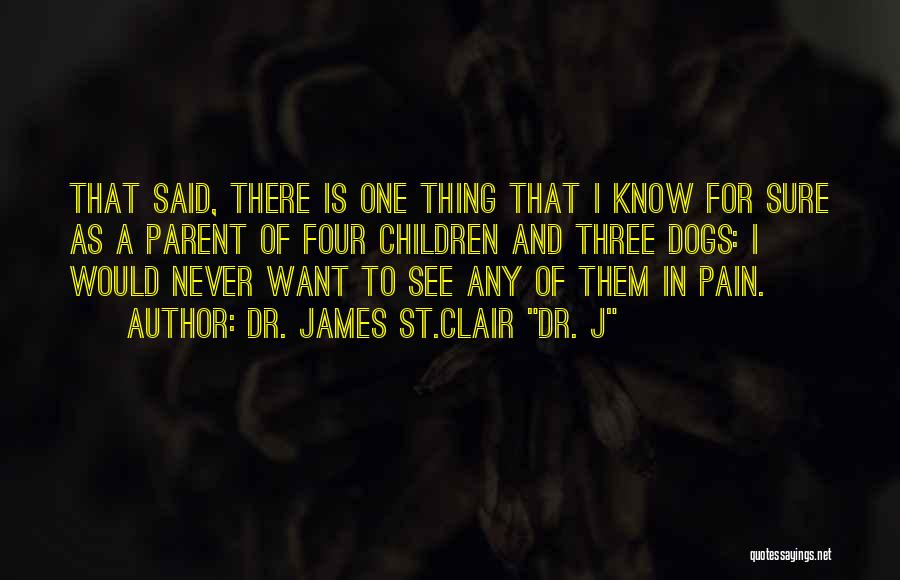 St Clair Quotes By Dr. James St.Clair