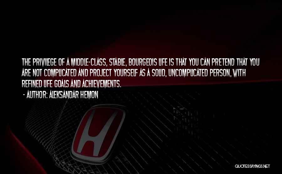 Stable Life Quotes By Aleksandar Hemon