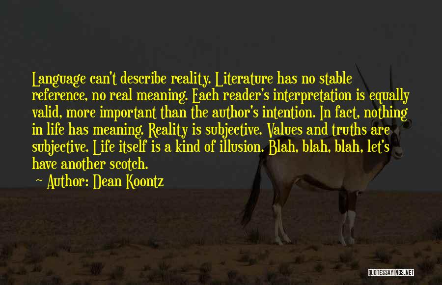 Stable Life Quotes By Dean Koontz
