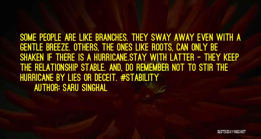 Stable Life Quotes By Saru Singhal
