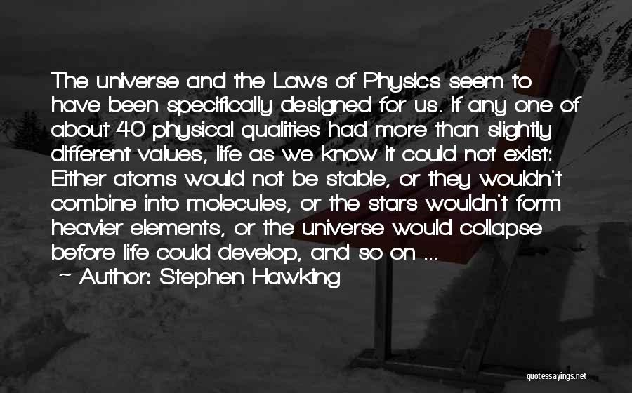 Stable Life Quotes By Stephen Hawking