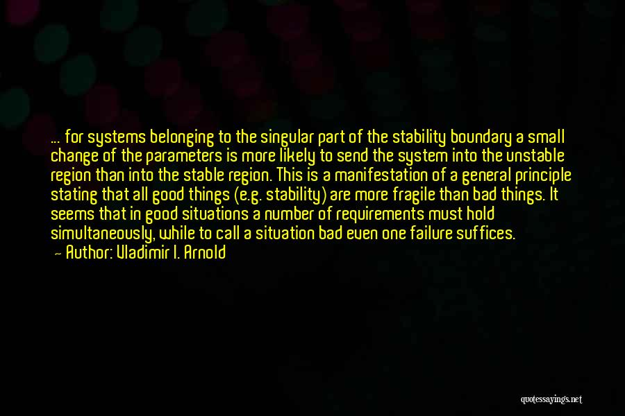 Stable Life Quotes By Vladimir I. Arnold