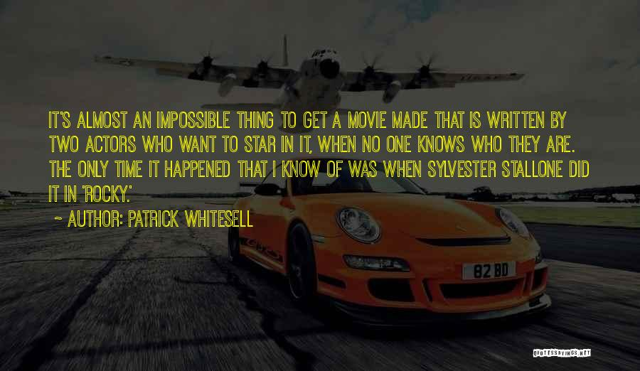 Stallone Movie Quotes By Patrick Whitesell