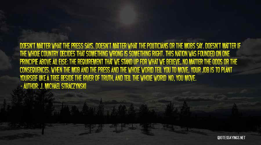 Stand Like A Tree Quotes By J. Michael Straczynski