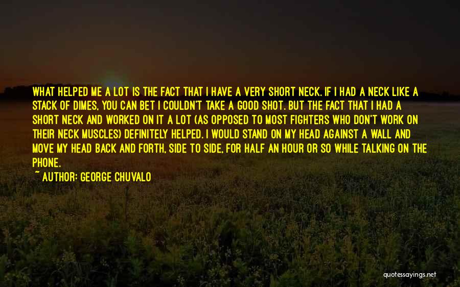 Stand My Side Quotes By George Chuvalo