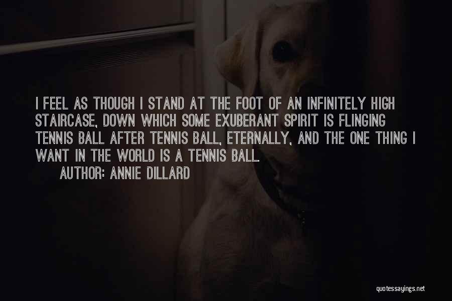Stand On My Own Feet Quotes By Annie Dillard
