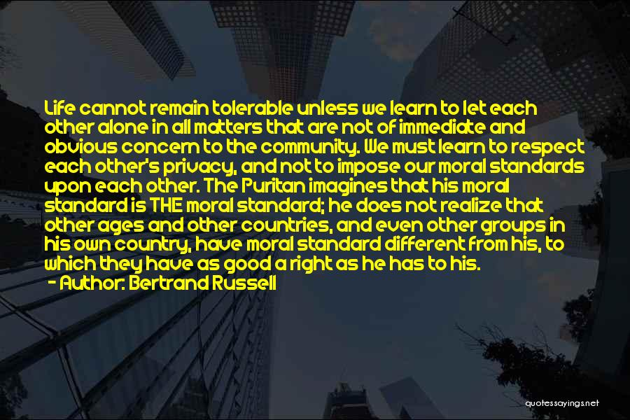 Standards And Respect Quotes By Bertrand Russell