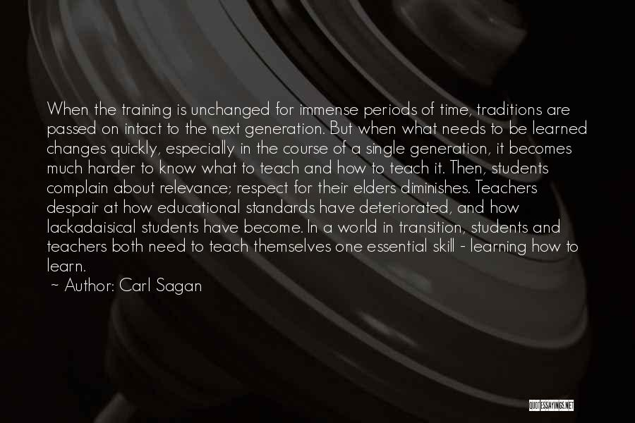 Standards And Respect Quotes By Carl Sagan