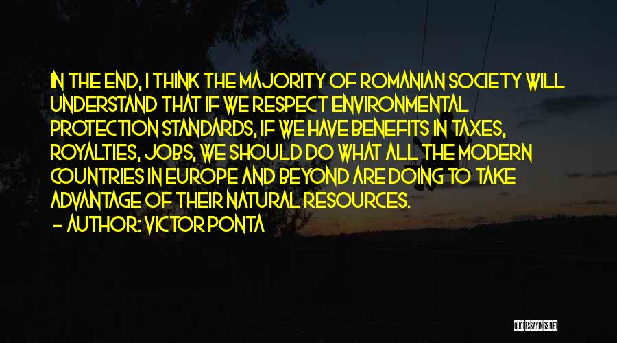 Standards And Respect Quotes By Victor Ponta