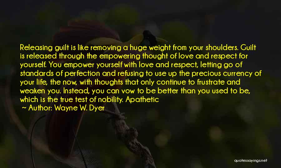 Standards And Respect Quotes By Wayne W. Dyer