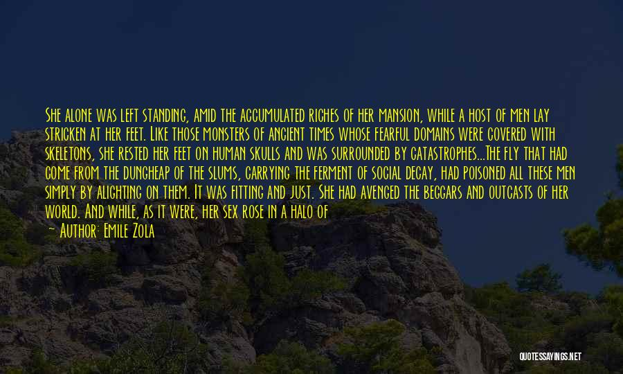 Standing Alone In The World Quotes By Emile Zola